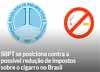 SBPT se posiciona contra a possível redução de impostos sobre o cigarro no Brasil