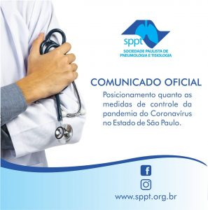 Posicionamento quanto as medidas de controle da pandemia por Coronavírus no Estado de São Paulo
