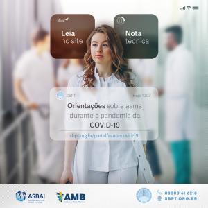 Nota técnica SBPT/ASBAI, com orientações sobre asma e COVID-19