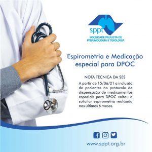 Espirometria e Medicação especial para DPOC