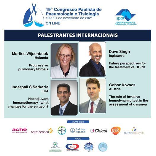 Palestrantes Internacionais – 19º Congresso da SPPT